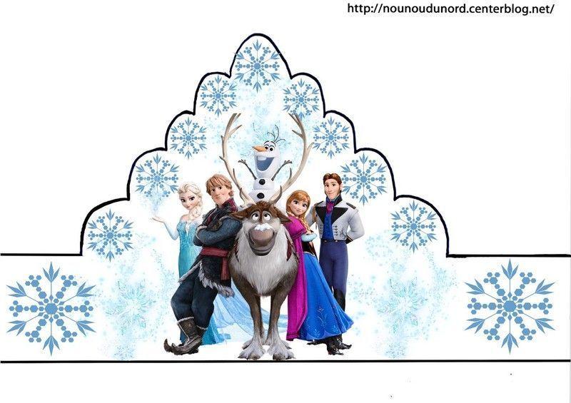 Couronnes reine des neiges en couleur coloriage gommettes - La reine des neige a imprimer ...