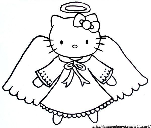 Coloriage ange hello kitty