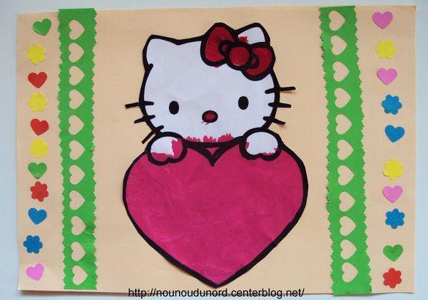 cadres papier Hello Kitty d'Axelle et fleur de Lison