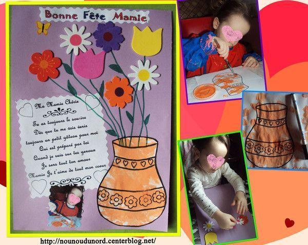 Cadeau pour la fête des mamies réalisé par Annalisa 22 mois