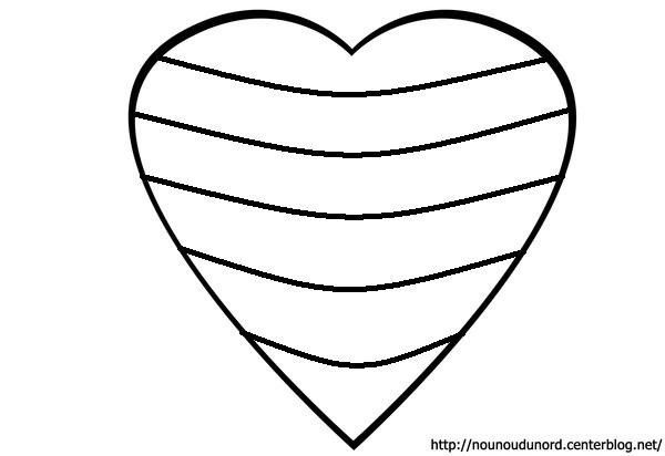 Coloriage coeur dessin par nounoudunord - Coloriage avec des coeurs ...
