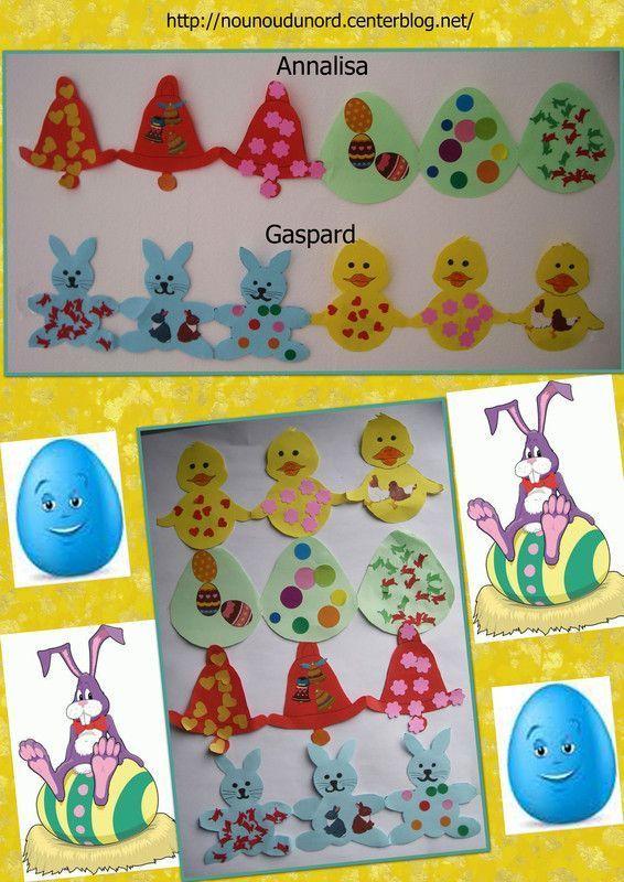 Les ribambelles de p ques des enfants 2013 - Decoration classe petite section ...