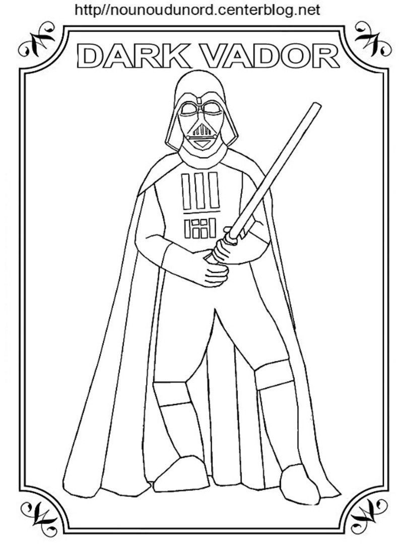 Coloriage dark vador star wars - Dessin a imprimer de star ...