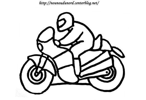 Coloriage vehicule transport - Dessin a imprimer moto ...