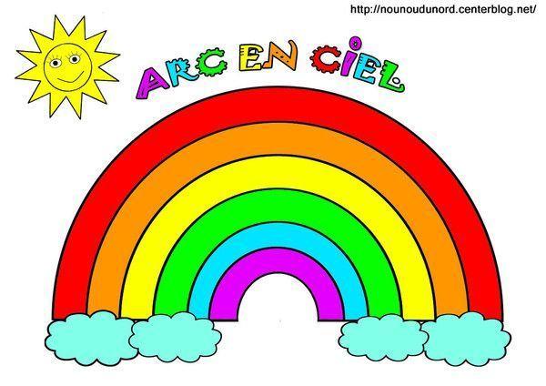 Coloriage Darc En Ciel En Ligne.Image Arc En Ciel En Couleur Dessine Par Nounoudunord