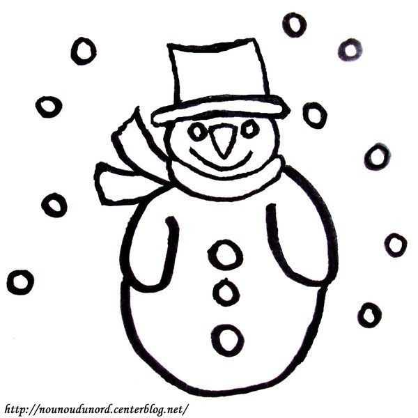 Coloriage bonhomme de neige - Bonhomme de neige coloriage ...