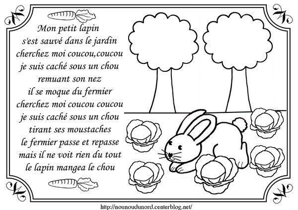 Mon petit lapin centerblog - Mon petit lapin s est cache dans le jardin paroles ...