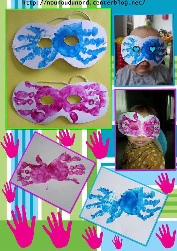 Masques Avec Les Empreintes De Main F Vrier 2014