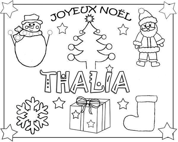 Coloriage noel prenom enfant - Dessin theme noel ...