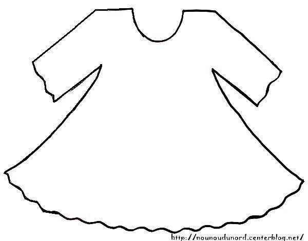 la robe de baptème à imprimer