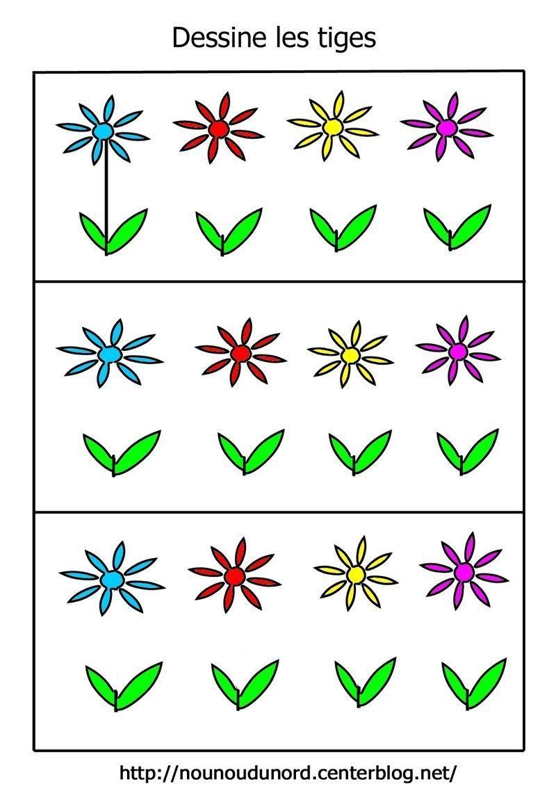 Exercice dessiner les tiges des fleurs - Photo de fleur a dessiner ...