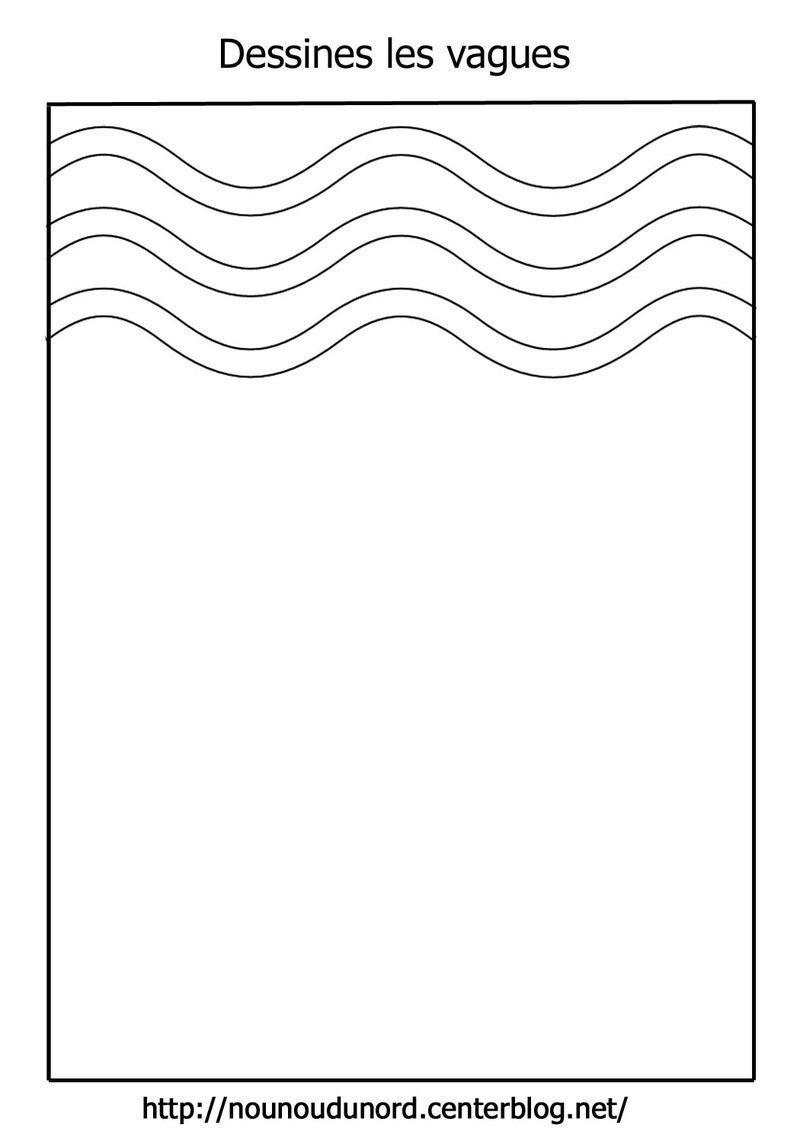 Dessine les lignes horizontales verticales vagues - Vague coloriage ...