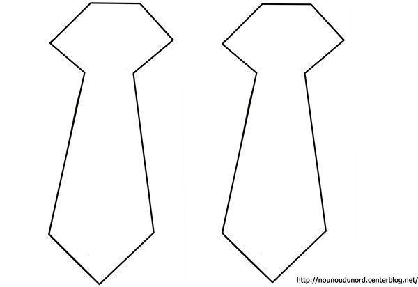 Coloriage vetement accessoire - Cravate dessin ...