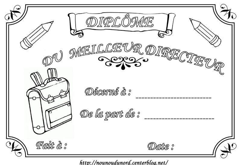 Diplome maitresse maitre atsem - Diplome du super papa a imprimer gratuit ...