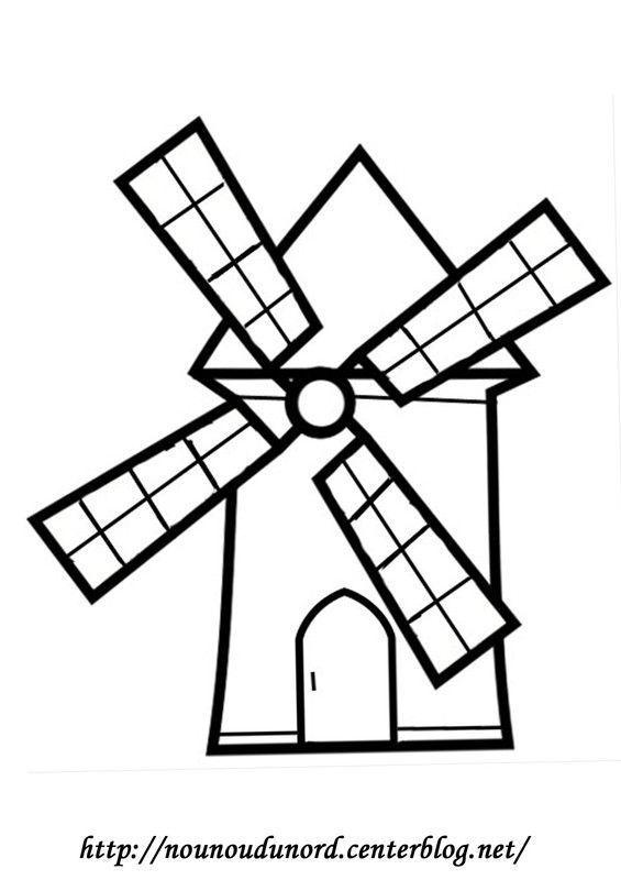 coloriage moulin r u00e9alis u00e9 par nounoudunord