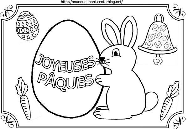 Coloriage paques tableau - Nounoudunord coloriage ...