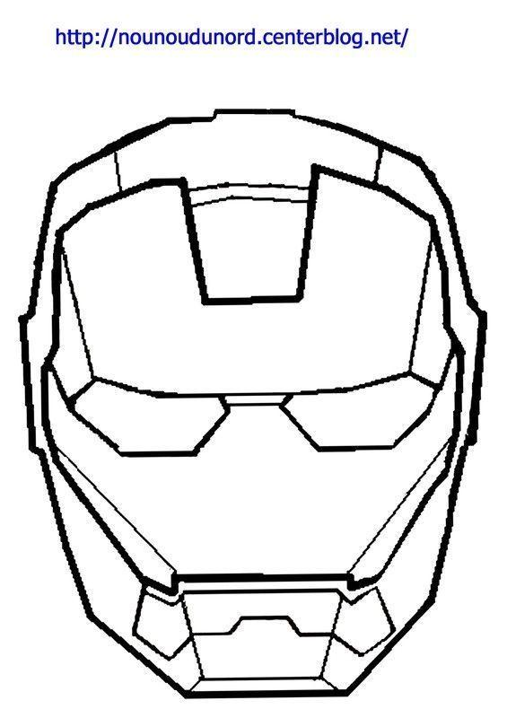 masque iron man imprimer - Dessin Colorier Sur Ordinateur