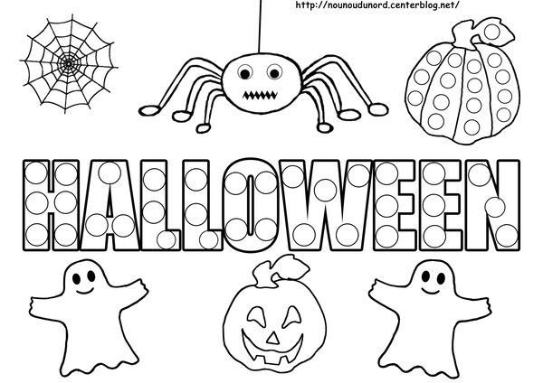 coloriage halloween gommettes criture. Black Bedroom Furniture Sets. Home Design Ideas