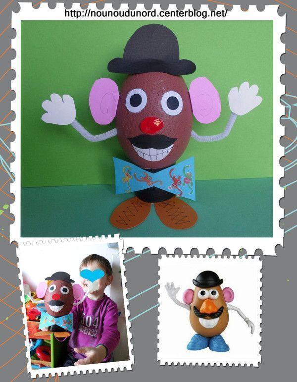 Oeuf de Pâques Mr Patate réalisé par Gaspard 4 ans