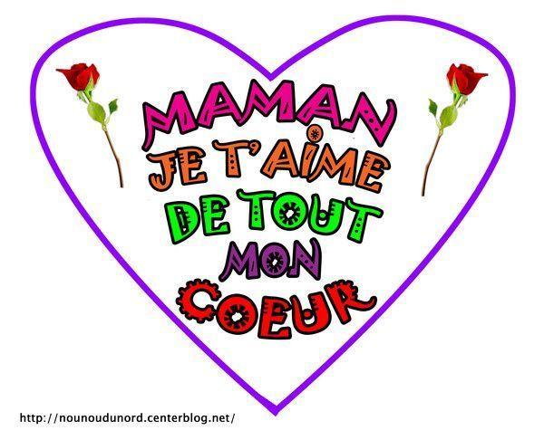 Message coeur fête pour la fête des mamans - coeur pour fete des meres