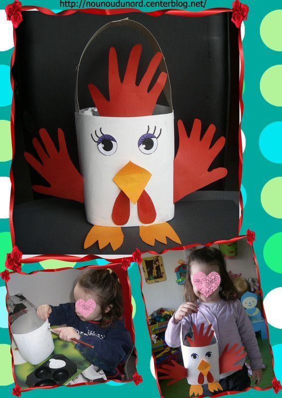 Activite paques page 3 - Panier poule paques ...