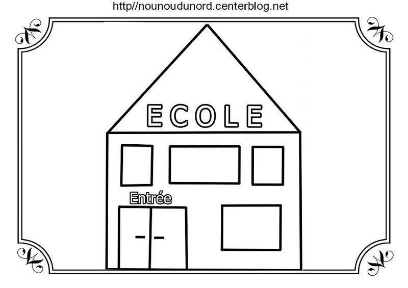 Coloriage Ecole Pdf.Coloriage Ecole Crayon Cartable