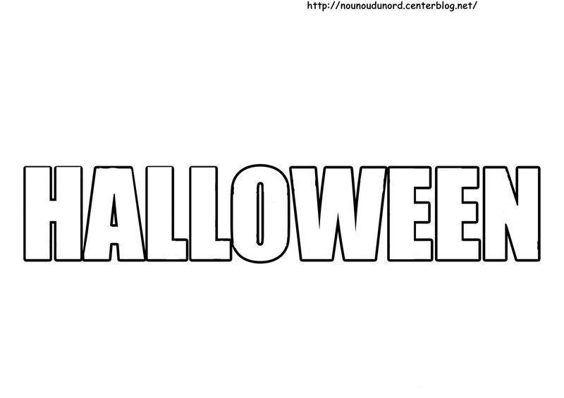 Coloriage halloween ecriture - Dessin a colorier halloween ...