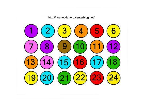 Chiffres en couleur pour calendrier de l 39 avent chiffre pour calendrier de l 39 avent imprimer - Chiffres pour calendrier de l avent a imprimer ...