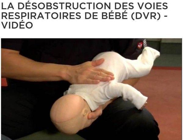 Désobstruction des voies respiratoires de bébé