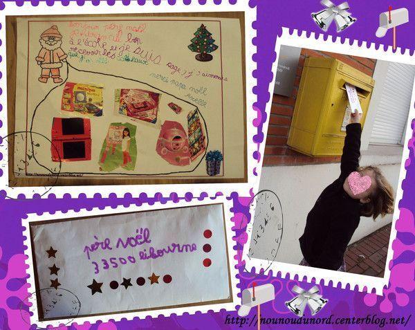 Axelle 6ans a fait aussi sa lettre au père Noël