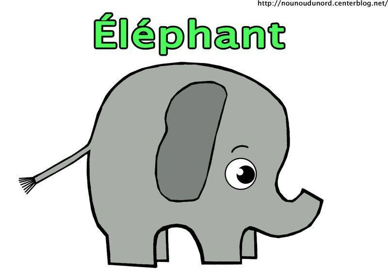 Coloriage animaux de la savane - Dessin elephant rigolo ...