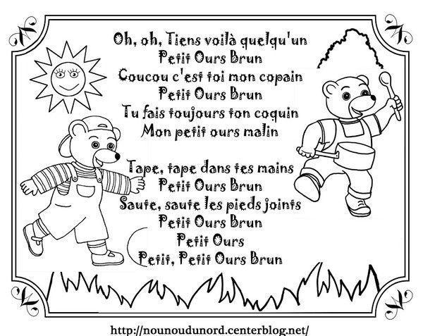 Chanson petit ours brun illustr e par nounoudunord - Petit ours brun et sa maman ...