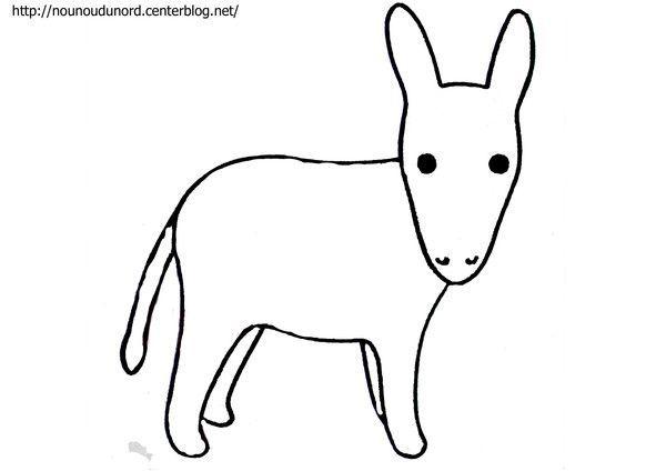Coloriage ane dessin par nounoudunord - Dessiner un ane ...