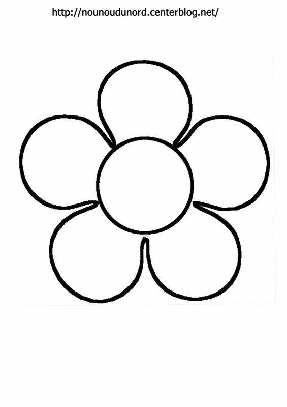 Fleur colorier gommettes en couleur jaune - Coloriage fleur 8 petales ...
