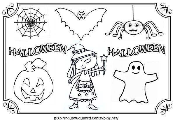 Coloriage tableau Halloween