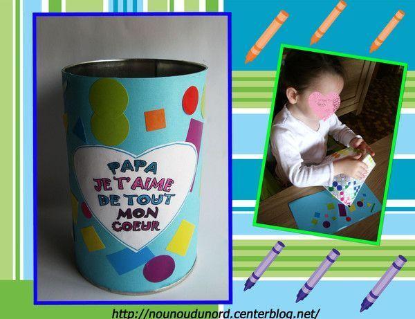 Pot à crayon pour la fête des pères