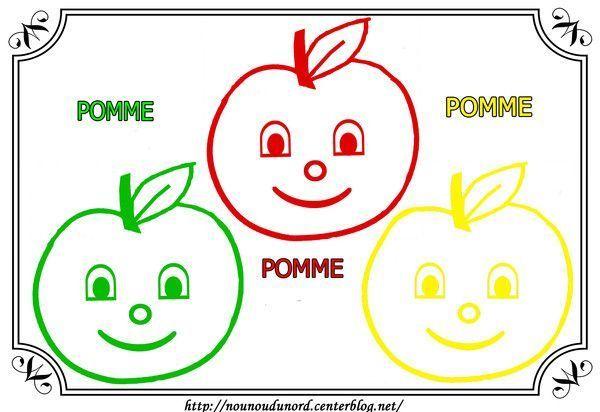 Coloriage alimentation - Dessin pomme a colorier ...