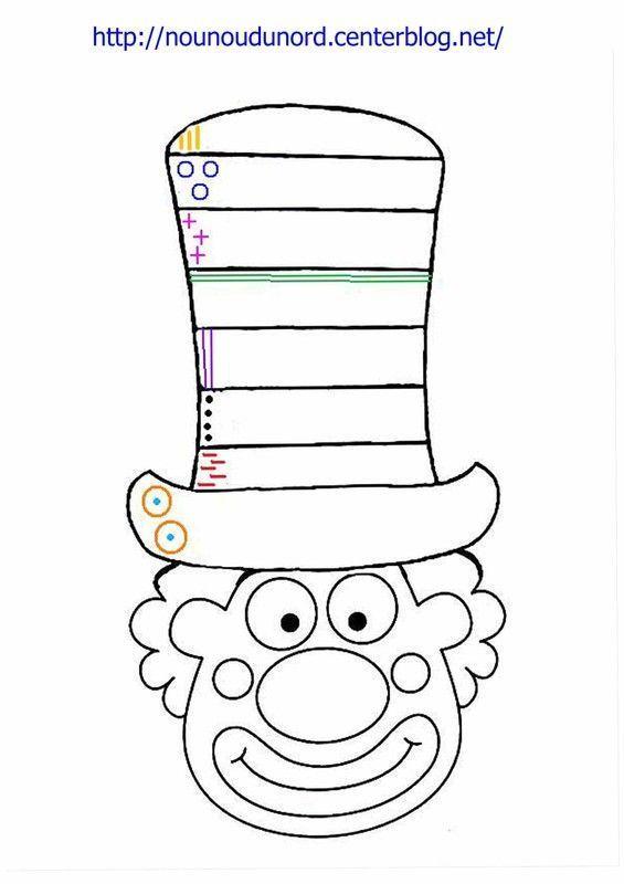 Coloriage Clown Ca.Coloriage Clown Excercice Sur Le Chapeau A Imprimer