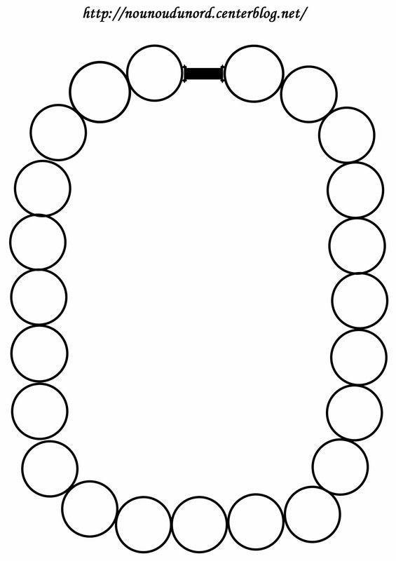 Modèles Colliers Perles Maternelle : Colliers de perles ? colorier ou gommetter