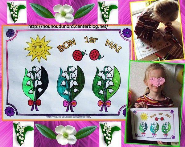 Coloriage tableau du 1er mai par lison 2012 - Coloriage 1er mai ...