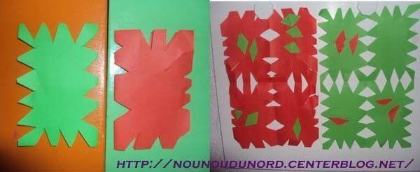 Lison découpe des feuilles en couleur