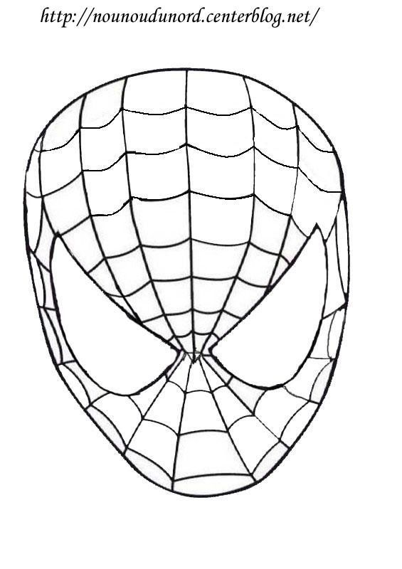 masque spiderman imprimer