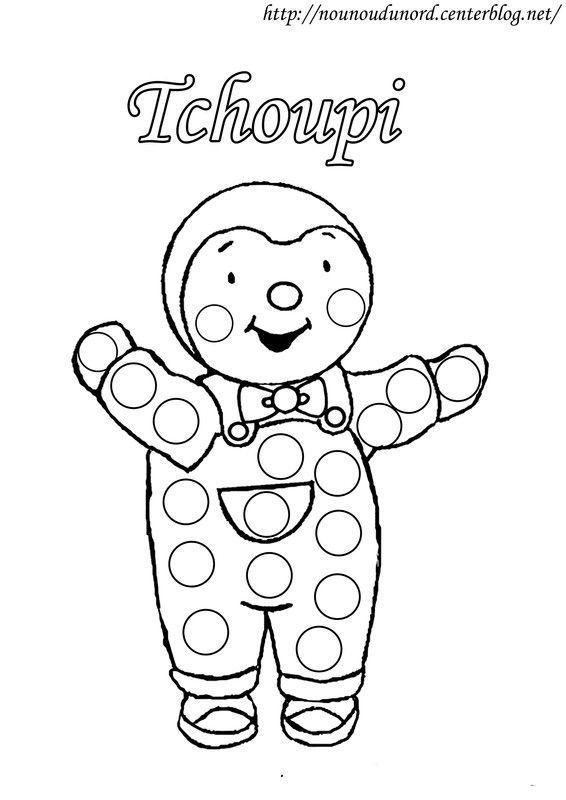 Coloriage gommettes tchoupi dessin par nounoudunord - Coloriage choupi ...