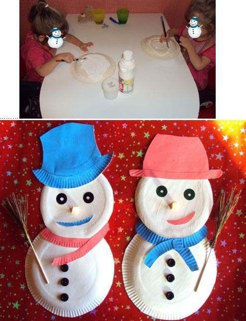 bonhommes de neige de Lilou et Liana les jumelles