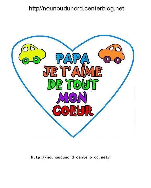 Coeurs message pour la f te des p res et papi - Mot pour la fete des peres ...