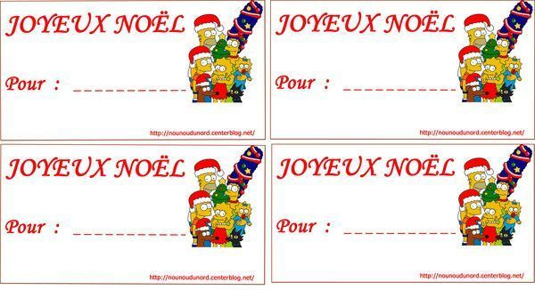 Favorit étiquettes à imprimer pour vos cadeaux de Noël IG01