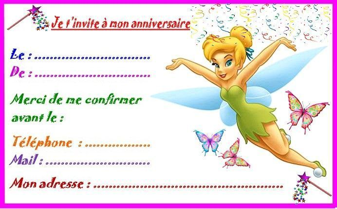 Hervorragend fee-clochette-invitation-grand  YZ55