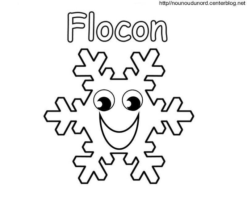 Coloriage noel flocons - Flocon dessin ...