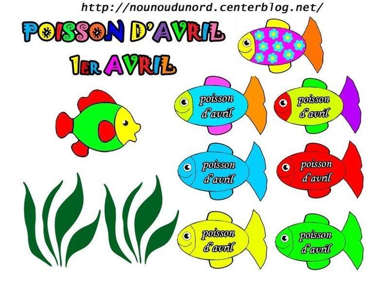 Gommettes poissons d 39 avril - Poisson dessin couleur ...