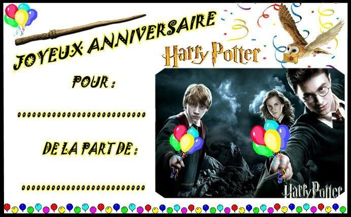 invitation anniversaire harry potter gratuit imprimable mt13 jornalagora. Black Bedroom Furniture Sets. Home Design Ideas